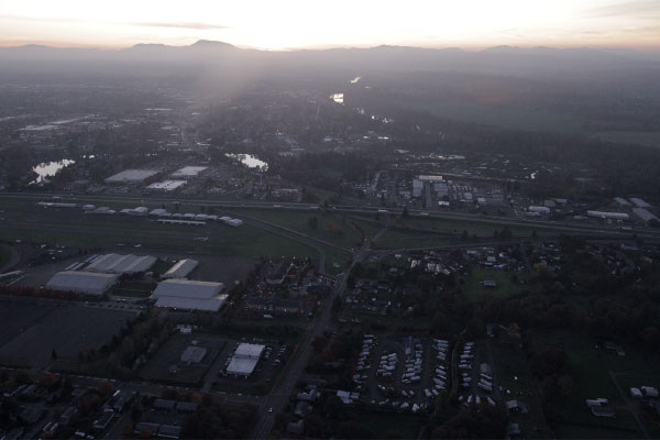 Knox Butte RV Park's location in Albany, Oregon